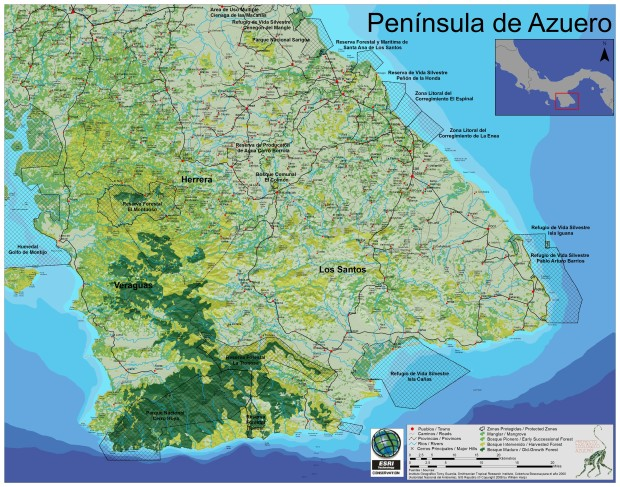Azuero Earth Project GIS Map